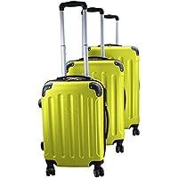 Set di 3 valigie rigidi trolley da