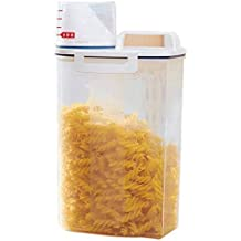 Topker Dispensador de Cereales Caja de Almacenamiento Caja de Cocina Alimentos harina de arroz Recipiente medidor
