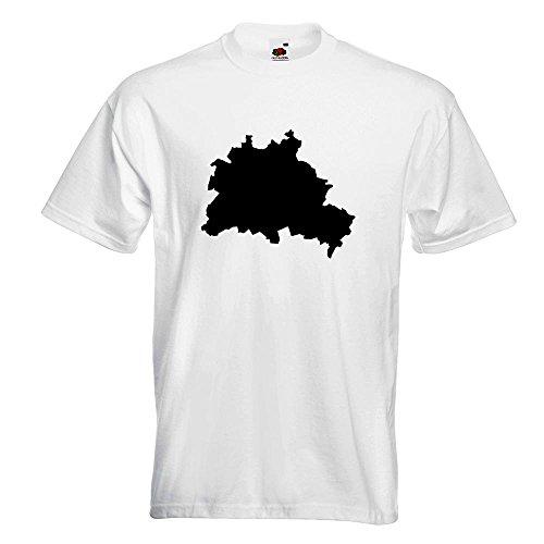 KIWISTAR - Berlin Deutschland Silhouette T-Shirt in 15 verschiedenen Farben  - Herren Funshirt bedruckt