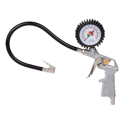 POWERPLUS POWAIR0100 - Pistola de hinchado con manómetro