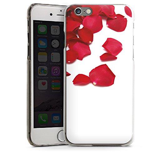 Apple iPhone 5s Housse Étui Protection Coque Feuilles de roses Rose Fleur CasDur transparent