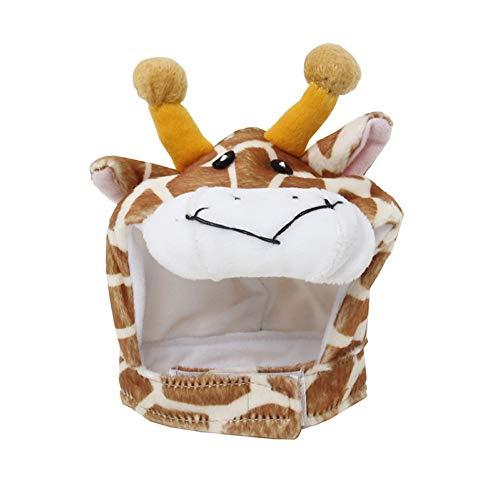 Muster Maskerade Kostüm - LCWYP Haustier Halloween 1 Stück Einstellbare Cartoon Giraffe Elefant Haustier Katze Hund Hut Kappe Halloween Kostüm Cosplay Maskerade Urlaub Party Geschenk Heimtierbedarf