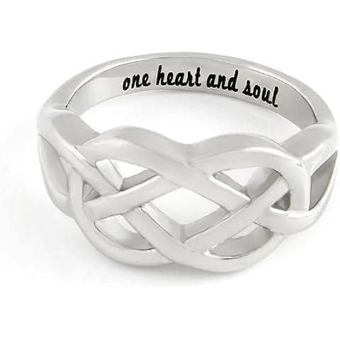 INFINITY Anello Anello per fidanzato o fidanzata, simbolo dell' infinito con incisione
