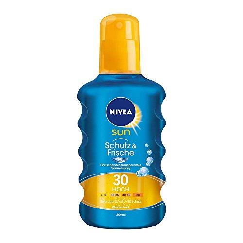 Nivea Sun Protect & Refresh Kühlendes Transparentes Sonnenspray LSF 30, 1er Pack (1 x 200 ml)