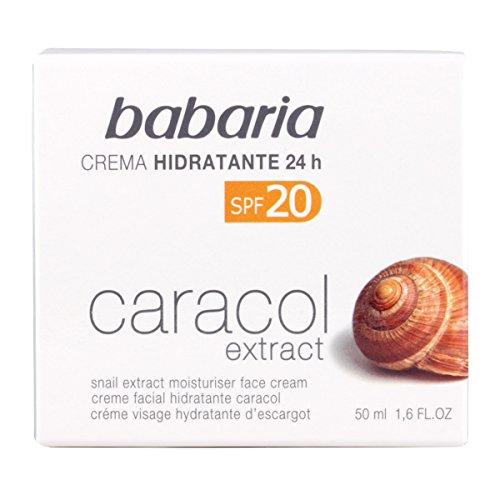 Babaria - Crema facial hidratante 24h SPF20 - Caracol extract - 50 ml
