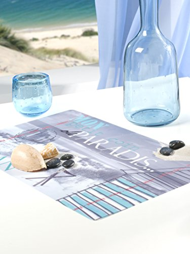 CALITEX Le Le Paradis, PVC, Bleu, 44x28 cm