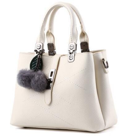 HQYSS Borse donna Borsa trendy classico dolce signora spalla Messenger , light gray meters white