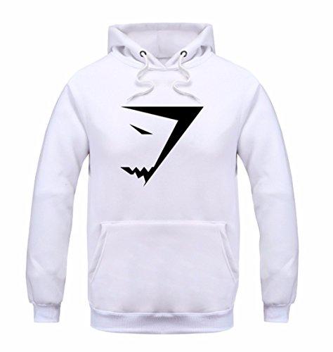 Men's Fashion Shark Sweatshirts Casual Sweatshirts white