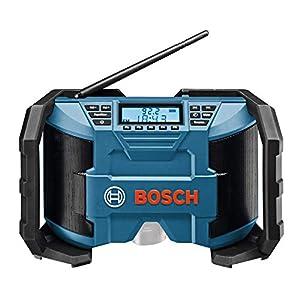 41BPEA339GL. SS300  - Bosch Professional GML Soundboxx Radio para construcción, Doble alimentación, FM/Am, MP3, en Caja, 12 W, 18 V, Negro/Azul