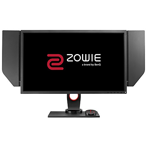 BenQ ZOWIE XL2740 - Monitor Gaming para e-Sport de 27' Full HD y 240Hz con 1ms, ajustable en altura y giro, S Switch, Black eQualizer, compatible G-Sync, Color Vibrance, Viseras, Gris Oscuro y Rojo