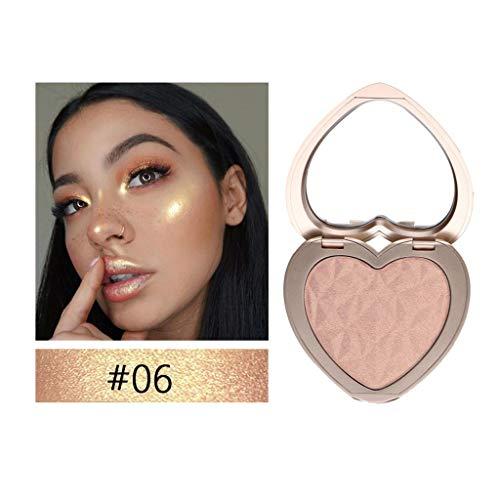 Highlighter, 3D Shimmer Highlighter Gesichtspuder-Palette Gesicht Basis Glanz Illuminator Make-up sexy neue Herzform By Vovotrade