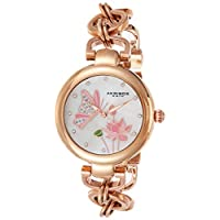 Akribos Xxiv Casual Watch Analog Display For Women Ak934Rg, Rose Gold Band, Mixed Strap