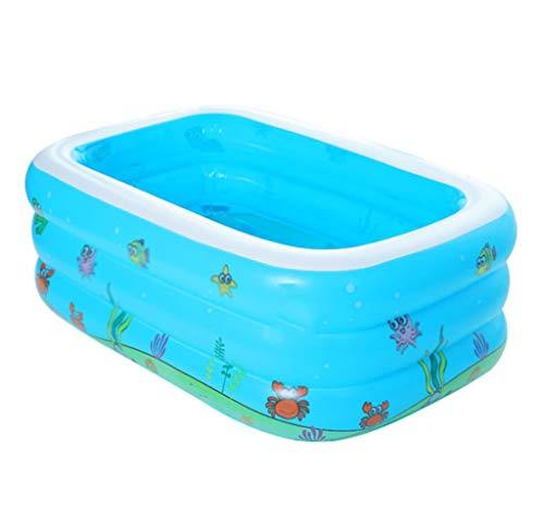 BYCDD Aufblasbare Badewanne Faltbare, Tragbar Reise Becken Dusche BadewannenzubehöR Verdickungs PVC Badewannensitz für Badezimmer für Erwachsene und Kinder,Blue_125X85X45CM
