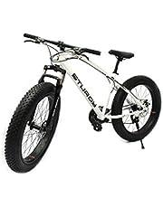 STURDY BIKES Mountain Carbon Steel Fat Bike with 26X4 inch