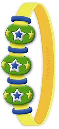 3e351c2ff169 Jacques farel silicone nana-pop-bracelet cordon etoiles-jaune