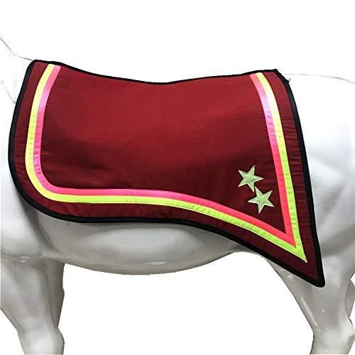 GCSEY Pferdesattelunterlage Numnahs Warm Shock Absorbing Saddle Pad, Feines Reitzubehör, Neue Fünf-Sterne-Sattelunterlage, Integrierte Schweißunterlage Für Westliche Touristen,Rot