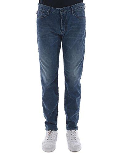 Armani Herren j06 Slim Fit Jeans 36R Denim-Blau -