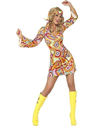 Hippie Kostüm Kleid Chick - Smiffys Costume Hippie Chick Anni 60' sexy