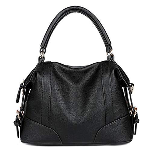 Leder Handtasche Damen Messenger Bags Black 32x22x15cm