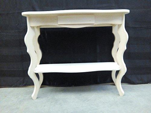 Legno&Design Console Table entrée Bois Massif 1 tiroir cintré Brut