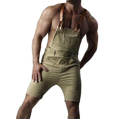 Jitong Distressed Peto Vaquero Hombre Pantalones Cortos