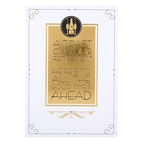 Hallmark - Tarjeta de jubilación «Good Times Ahead», tamaño medio