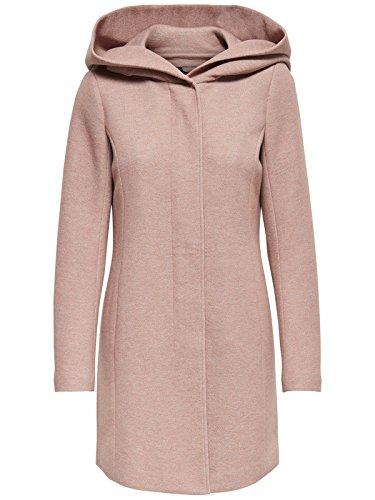 ONLY Damen onlSEDONA Light Melange Coat CC OTW Mantel, Braun (Mocha Mousse Detail:Melange), 42 (Herstellergröße: XL)