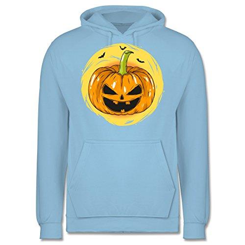 Shirtracer Halloween - Halloween Kürbis Gesicht - XS - Hellblau - JH001 - Herren Hoodie