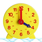 WuLi77- Orologio didattico Montessori per bambini, 12 - 24 ore, ca 10 cm