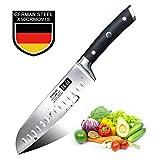 SHAN ZU Couteau Santoku Professionnel 1.4116 Couteau de Cuisine en Acier 18 CM-Classic Series 18 cm