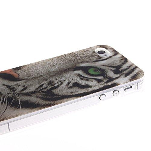 MOONCASE iPhone 4 4S Case Coque Housse Silicone Etui Case Soft Gel TPU Cover pour iPhone 4 4S -TX10 ST09