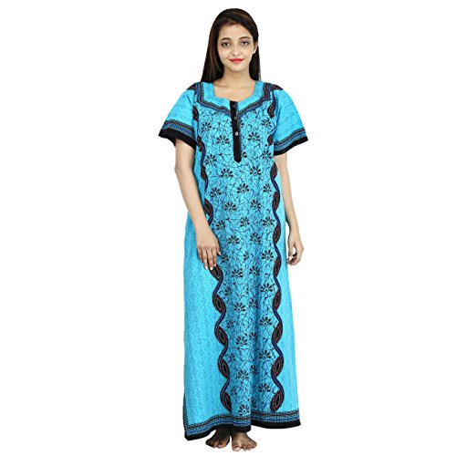 WOMEN'S PREMIUM NIGHTY, SOFTEST P.C. FABRIC, S/M/L/XL/XXL FRONT OPEN. 100% GURANTEED- NO COLOUR FADING OR ANY SHRINKAGE PROBLEM  available at amazon for Rs.350