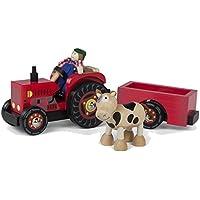 ColorBaby - Tractor de madera - 33 cm (43621)