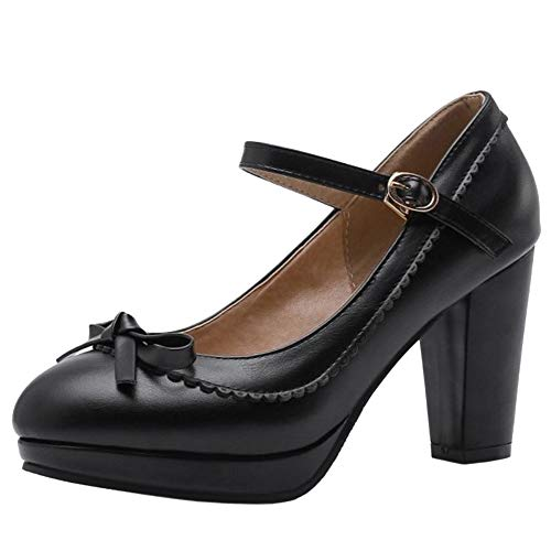 Lydee Mujer Zapatos Dulce Bow Pumps Correa Partido