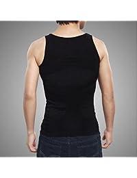 Gilets de sport Corps Homme Minceur Ventre Gras Sous-vêtements Compression T-Shirt Corset