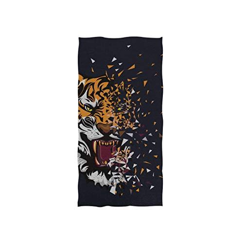 Männliche Natur Lebensraum Tiger Head Soft Spa Strand Badetuch Fingerspitze Handtuch Waschlappen Für Baby Erwachsene Badezimmer Strand Dusche Wrap Hotel Reise Gym Sport 30x15 Zoll -
