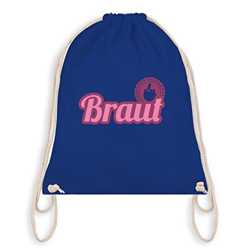 JGA Junggesellinnenabschied - Ringfinger Braut - Turnbeutel I Gym Bag Royalblau