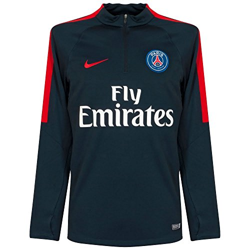 Nike PSG M Dril Top SQD - Camiseta de Manga Larga Paris Saint Germain para Hombre, Color Azul, Talla L