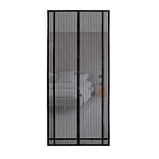 Sekey 2PCS 220x130cm Panneau Magnétique Moustiquaire Magnétique pour Porte de balcon, Porte de cave, Porte de terrasse (découpable en hauteur et largeur) grâce à son montage facile à utiliser.
