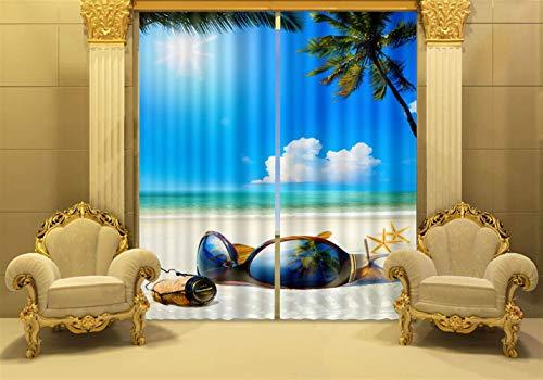 Insun Vorhänge mit Ösen Gardinen Verdunkelungs Vorhang Digitaldruck Fenster Vorhänge 2er Set für Wohnzimmer Schlafzimmer Sonnenbrille 150 x 166 cm