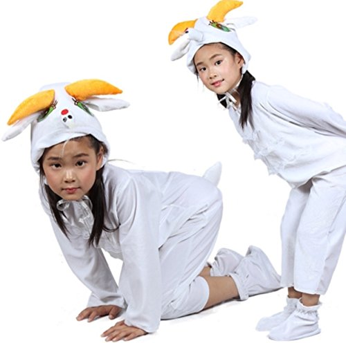Matissa Kinder Tier Kostüme mit Kapuze Kostüm Party Unisex Outfit Pyjamas Cosplay (Ziege, M (Für Kinder 105-120 cm ()