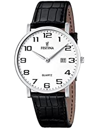 FESTINA F16476/1 - Reloj de caballero de cuarzo, correa de piel color negro