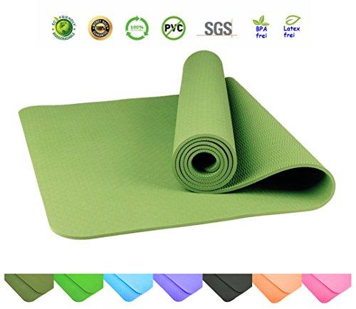 Sosila TPE Yogamatte, ECO Gymnastik Matte, rutschfest, umweltfreundlich, hypoallergen und hautfreundlich, SGS geprüft, ideal für Yoga, Pilates und...