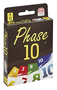 Mattel Games Phase 10 Juego de emparejar Cartas - Juegos de Cartas (7 año(s), Juego de emparejar Cartas, Niños y Adultos, Niño/niña, 99 año(s), Caja)