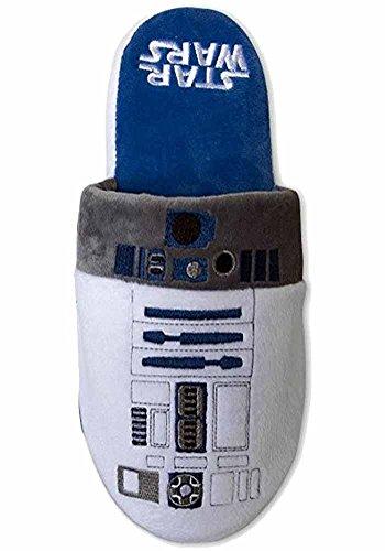 Étoile Officiel Wars R2-D2 Adulte Mule Slip On chaussons - 2 Tailles Disponibles (EU 38-41)