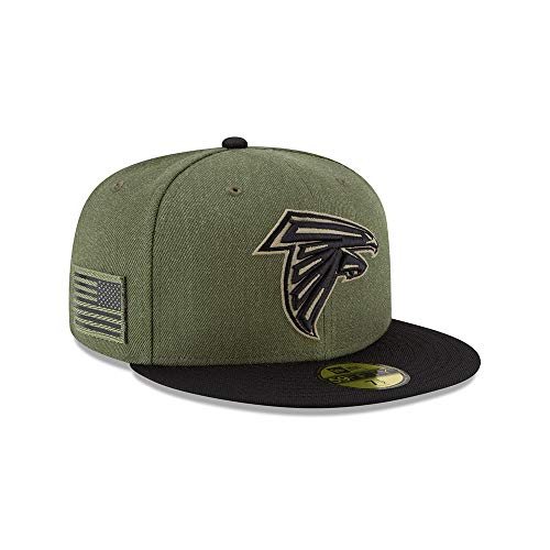 New Era Atlanta Falcons On Field 18 Salute to Service Cap 59fifty 5950 Fitted Limited Edition -