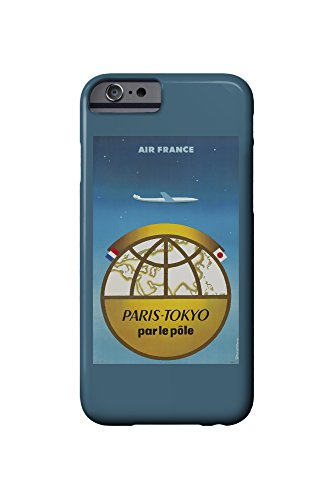 Air France - Paris-Tokyo Vintage Poster (artist: Excoffon) France c. 1958 (iPhone 6 Cell Phone Case, Slim Barely There)