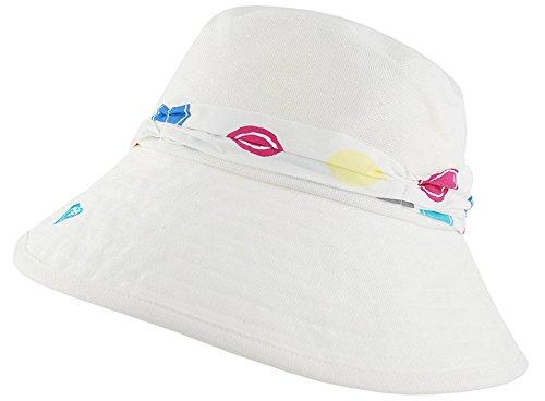 ROXY BOO Chapeau Bob en Lin Soleil Été Blanc Femme Blanc