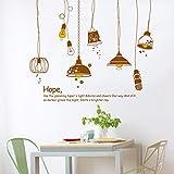 Lyqyzw Europa Stil Die Hoffnung Kronleuchter Wandaufkleber Für Wohnzimmer Schlafzimmer Küche Wanddekor Abnehmbare Kunst Aufkleber Wandbild