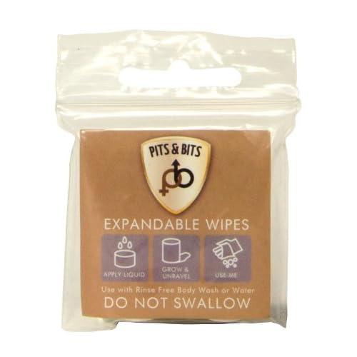 Pits & Bits Expandable Wipes – White, Size 4